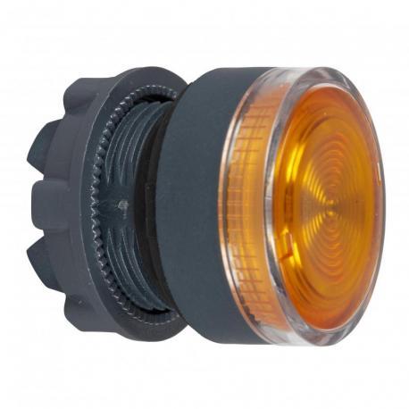 Przycisk płaski pomarańczowy samopowrotny żarówka BA 9s plastikowy karbowana