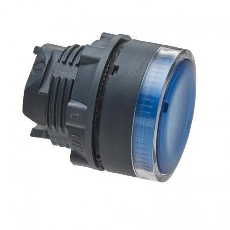 Przycisk płaski niebieski samopowrotny żarówka BA 9s plastikowy typowa