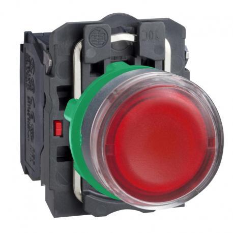 Przycisk płaski czerwony żarówka 250V bezpośrednie plastikowy