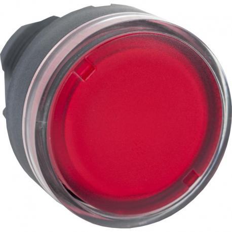 Przycisk płaski czerwony samopowrotny żarówka BA 9s plastikowy typowa