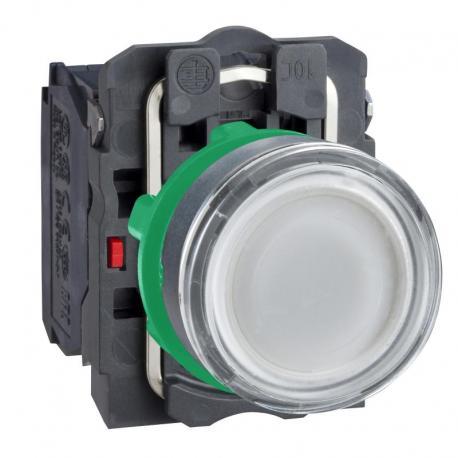 Przycisk płaski biały żarówka 250V bezpośrednie plastikowy