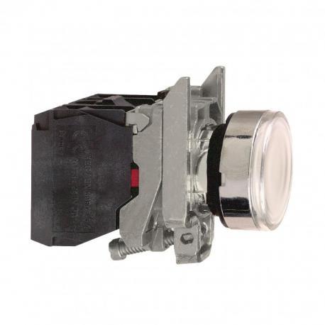 Przycisk płaski biały żarówka 250V bezpośrednie metalowy