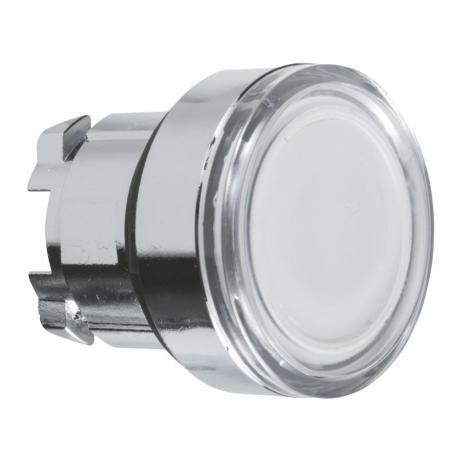 Przycisk płaski biały samopowrotny żarówka BA 9s metalowy typowa bez oznaczenia