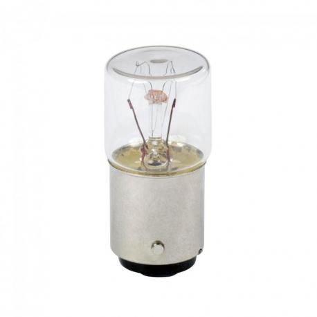 Przezroczysta żarowa żarówka sygnalizacyjna - BA 15d - 110...160 V 6 W