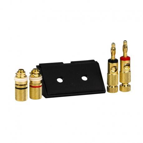 Merten - Akcesoria wypustu kablowego adapter dwa złącza audio typu hi-fi