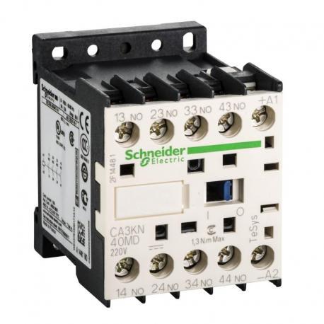 Miniaturowy stycznik pomocniczy TeSys K 4NO cewka 220VDC zaciski skrzynkowe
