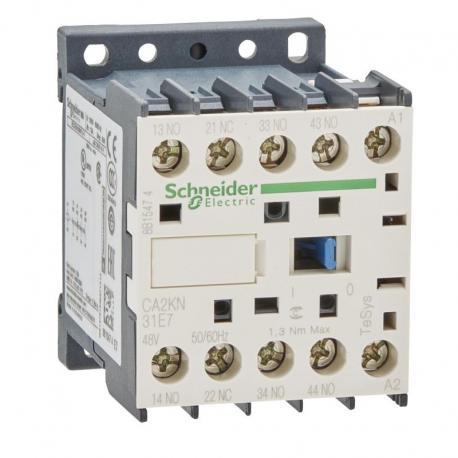 Miniaturowy stycznik pomocniczy TeSys K 3NO 1NC cewka 48VAC zaciski skrzynkowe