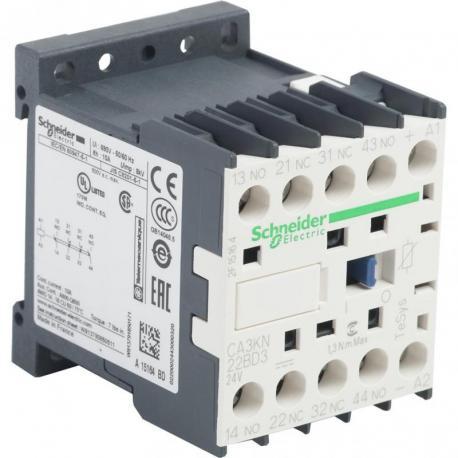 Miniaturowy stycznik pomocniczy TeSys K 2NO 2NC cewka 24VDC zaciski skrzynkowe