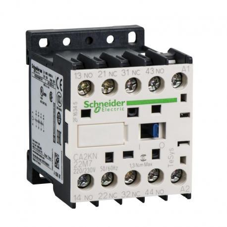 Miniaturowy stycznik pomocniczy TeSys K 2NO 2NC cewka 220VAC zaciski skrzynkowe