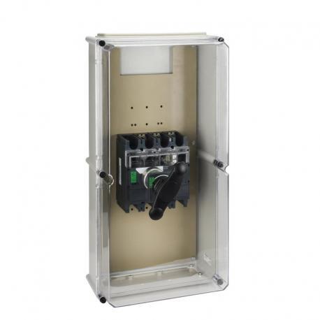 Obudowa wodoszczelna do Interpact INS320/630 czarny uchwyt IP55