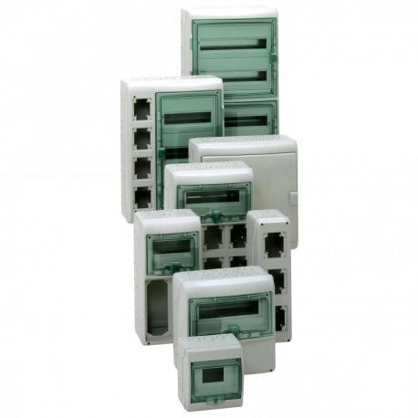 Obudowa natynkowa IP65 KDR-4-18-NT-T drzwi transparentne 4 rzędy 18 modułów/rząd