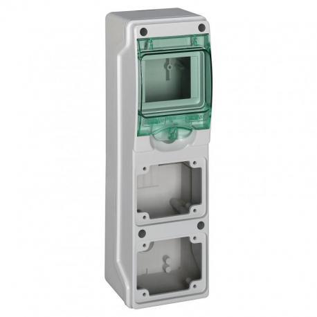 Obudowa natynkowa IP65 do podłączenia gniazd mgKDR-1-4-NT-T/2 2 otwory 65x85mm