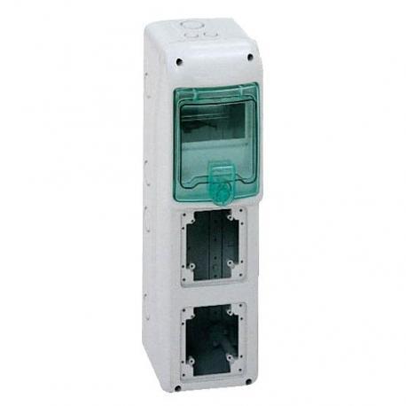 Obudowa natynkowa IP65 do podłączenia gniazd gKDR-1-5-NT-T/2 2 otwory 90x100mm