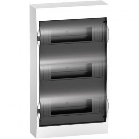 Obudowa natynkowa IP40 EZ9E-3-12-NT-T drzwi transparentne 3 rzędy 12modułów/rząd