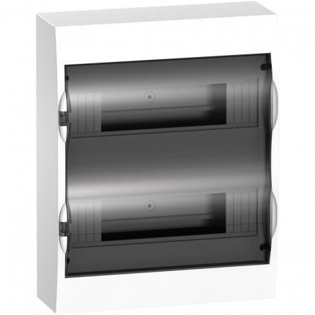Obudowa natynkowa IP40 EZ9E-2-12-NT-T drzwi transparentne 2 rzędy 12modułów/rząd