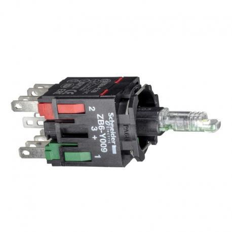 Zestaw świetlny czerwony, zintegrowany LED, 1NO+1NC, 12…24V
