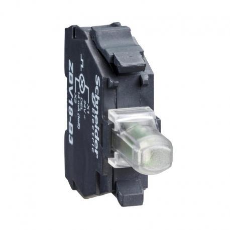 Zestaw świetlny 22 zielony LED 230-240V migający zaciski śrubowe