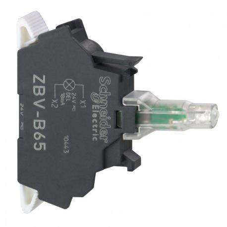 Zestaw świetlny 22 niebieski LED 24V standardowy zaciski sprężynowe