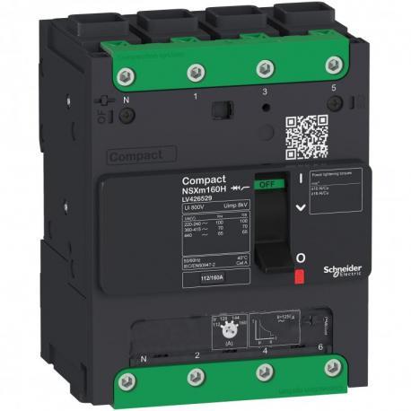 Wyłącznik Compact NSXm 125 4P 36kA przy 380/415V(IEC) końcówki. kabl. EverLink
