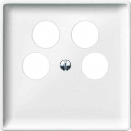 Merten - płytka centralna gniazda TV czterootworowa System Desing biały polarny