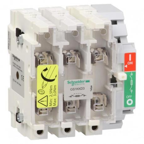 Rozłącznik bezpiecznikowy TeSys GS 125A 3P 3NO typ 00