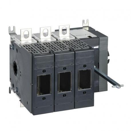 Podstawa rozłącznika bezpiecznikowego INFD DIN 125A 3P 3F uchwyt boczny