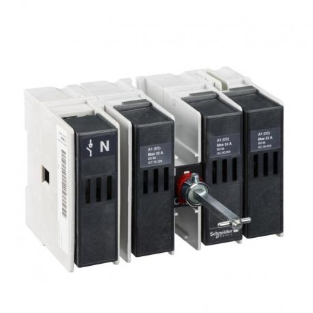 Podstawa rozłącznika bezpiecznikowego do INFB BS 32A 4P 3F bezpiecznik A1
