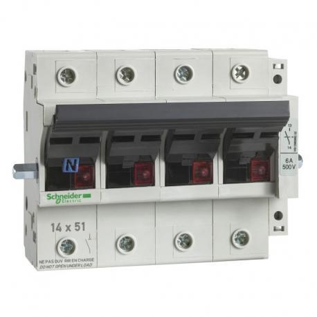 Odłącznik bezpiecznikowy dźwigniowy 14x51mm 50A 4P