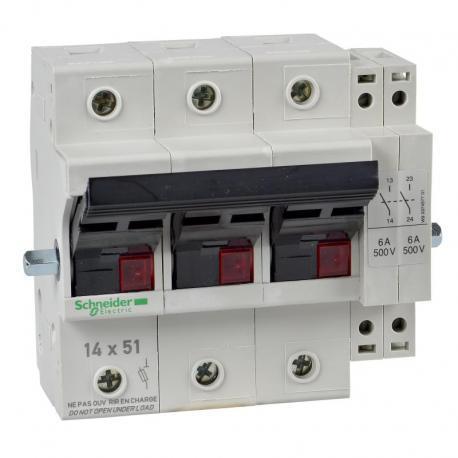 Odłącznik bezpiecznikowy dźwigniowy 14x51mm 50A 3P