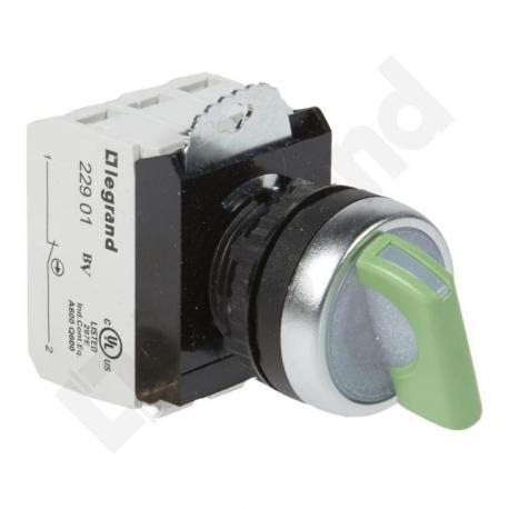 Osmoz komplet z podświetleniem - manetka 24 V, 2 pozycje stabilne + uchwyt + 1Z+1R ZIELONA