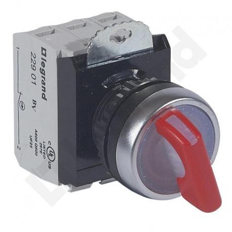 Osmoz komplet z podświetleniem - manetka 24 V, 2 pozycje stabilne + uchwyt + 1Z+1R CZERWONA