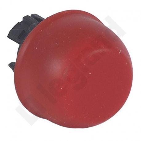 Osmoz główka płaska z kapturkiem silikonowym bez podświetlenia CZERWONA