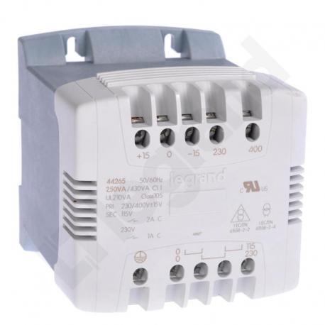 Transformator z filtrem 230/400-115/230 250 VA