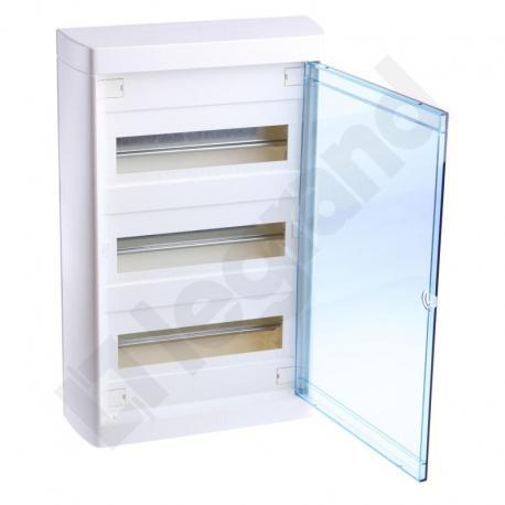 Rozdzielnica NEDBOX 3 x 12 drzwi transparentne