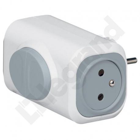 Rozgałęźnik 2x2P+Z - 16 A - z przyciskami do wypychania wtyczek