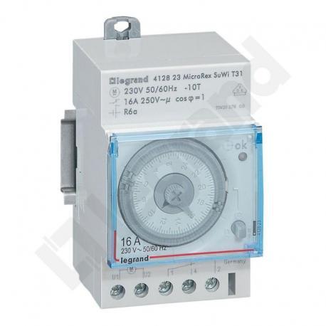 Programator analogowy dobowy PLUG&PLAY T31 SU/WI, napęd kwarcowy
