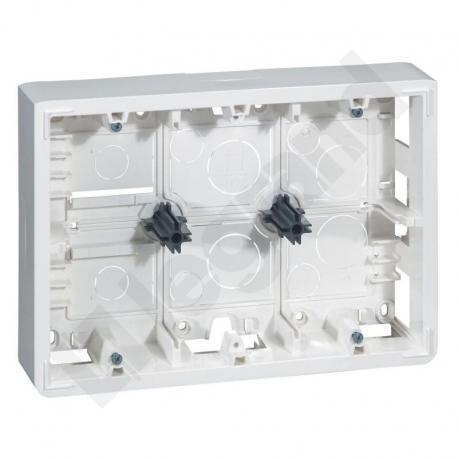 Mosaic Puszka natynkowa-2x6 lub 2x8 lub 2x3x2 moduły poziomo 46mm do uchwytu 080266