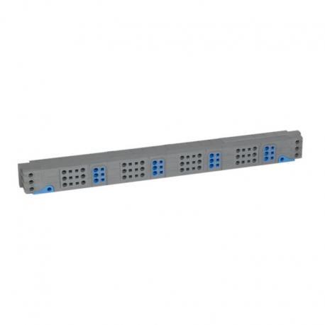 VX3 Blok rozdzielacza pionowego do rozdzielni 5 rzędowej 125 A, zaciski sprężynowe