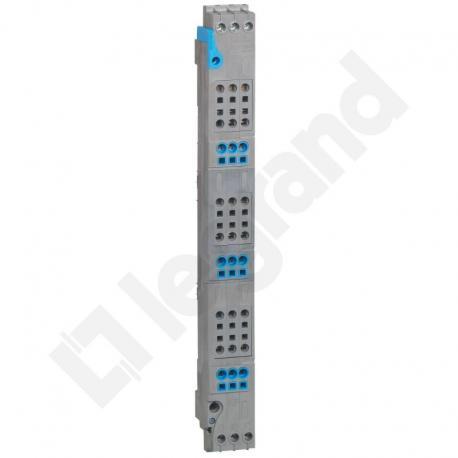 VX3 Blok rozdzielacza pionowego do rozdzielni 4 rzędowej 125 A, zaciski sprężynowe