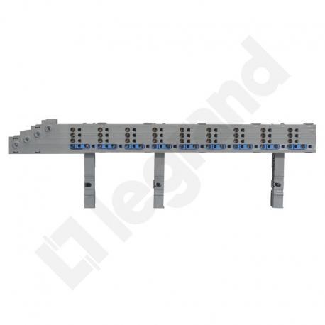 Hx3 Blok rozdzielacza poziomego 125 A zaciski sprężynowe, do całego rzędu