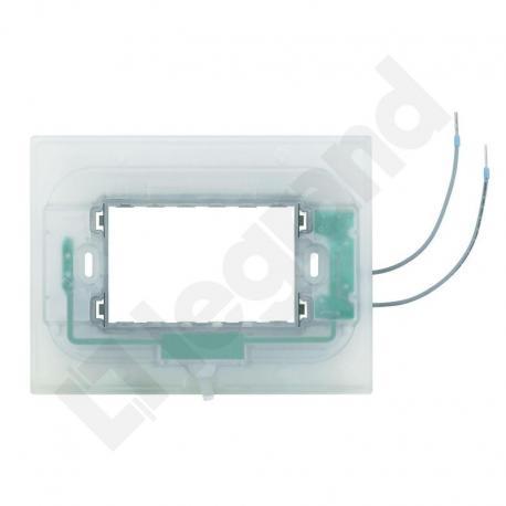 Axolute - Uchwyt podświetlany 3 moduły do ramek prostokątnych (HA)