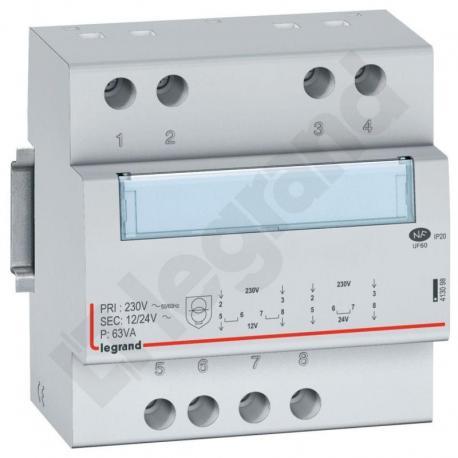Modułowy transformator bezpieczeństwa TR363 12/24 63VA