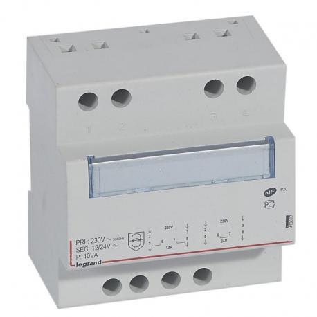 Modułowy transformator bezpieczeństwa TR340 12/24 40VA