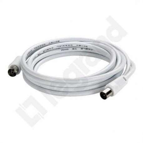 Kabel TV z 1 wtykiem męskim Ø9,52 mm i 1 wtykiem żeńskim Ø9,52 mm, długość 5 M