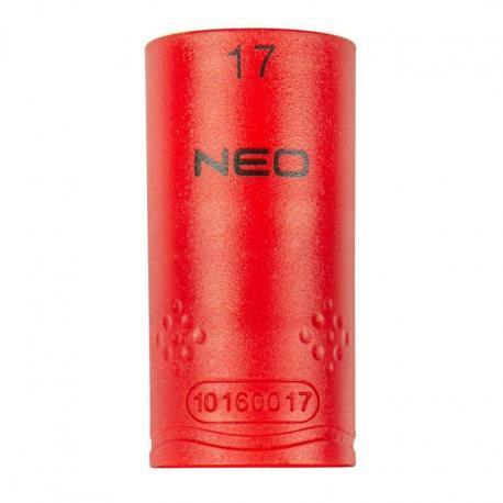 """NEO Nasadka sześciokątna 1/2"""" 17 mm 1000V"""