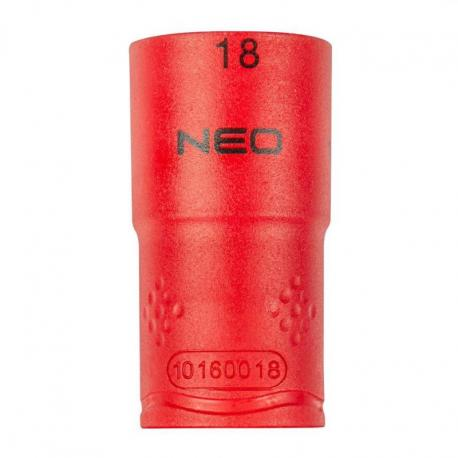 """NEO Nasadka sześciokątna 1/2"""" 18 mm 1000V"""