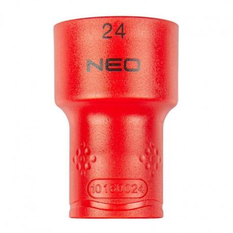 """NEO Nasadka sześciokątna 1/2"""" 24 mm 1000V"""