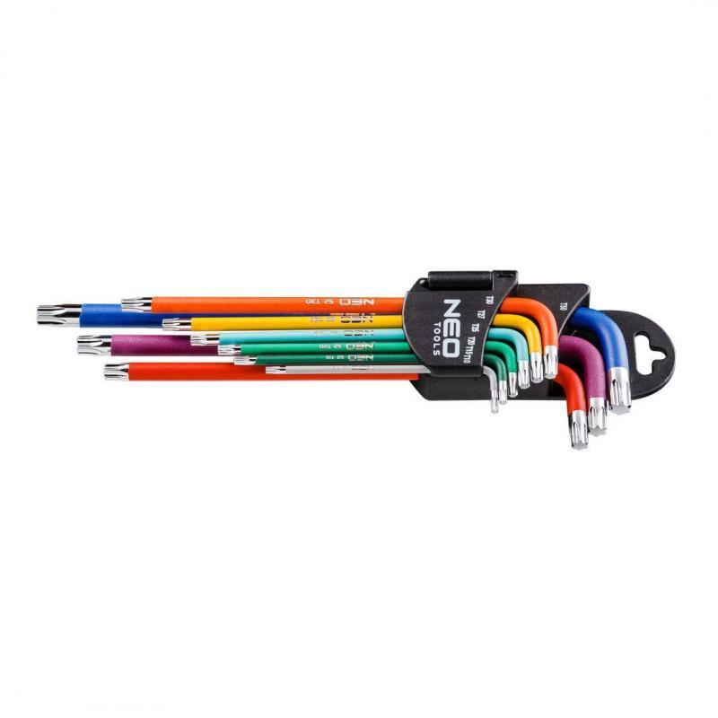 NEO Klucze Torx T10-50, zestaw 9 szt., kolorowe
