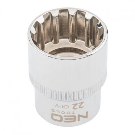 """NEO Nasadka Spline 1/2"""", 22 mm"""