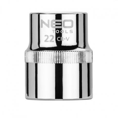 """NEO Nasadka sześciokątna 1/2"""", 22 mm, Superlock"""